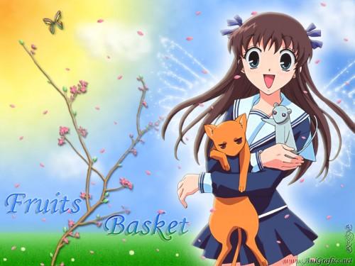 Natsuki Takaya, Fruits Basket, Kyo Sohma, Tohru Honda, Yuki Sohma Wallpaper