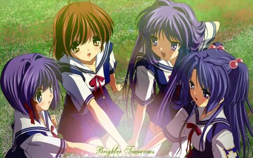 Kyoto Animation, Clannad, Kotomi Ichinose, Kyou Fujibayashi, Ryou Fujibayashi Wallpaper