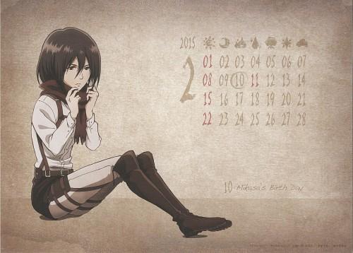 Hajime Isayama, Production I.G, Shingeki no Kyojin, Shingeki no Kyojin School Calendar 2014, Mikasa Ackerman
