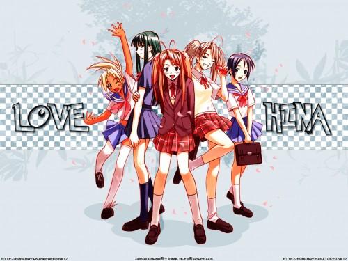Ken Akamatsu, Love Hina, Motoko Aoyama, Naru Narusegawa, Mitsune Konno Wallpaper