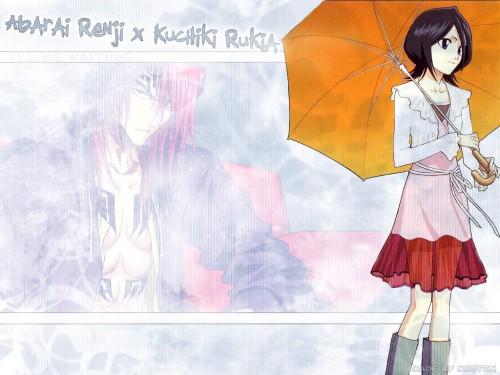 Kubo Tite, Studio Pierrot, Bleach, Renji Abarai, Rukia Kuchiki Wallpaper