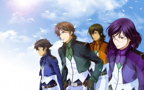 Sunrise (Studio), Mobile Suit Gundam 00, Allelujah Haptism, Lockon Stratos, Tieria Erde Wallpaper