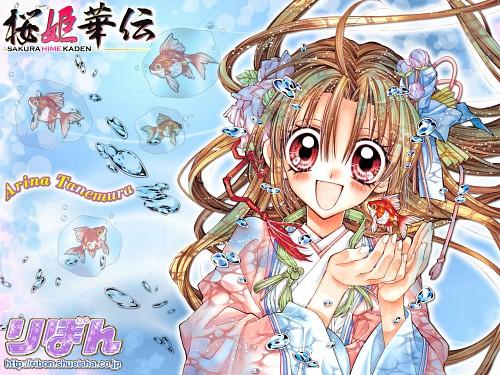 Arina Tanemura, Sakura Hime Kaden, Sakura (Sakura Hime Kaden), Official Wallpaper