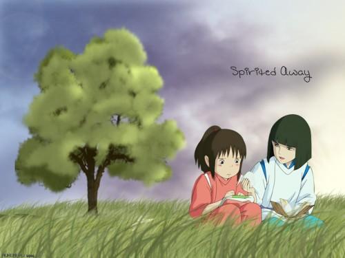 Studio Ghibli, Spirited Away, Chihiro Ogino, Haku (Spirited Away) Wallpaper