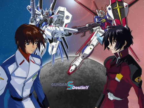Sunrise (Studio), Mobile Suit Gundam SEED Destiny, Shinn Asuka, Kira Yamato Wallpaper