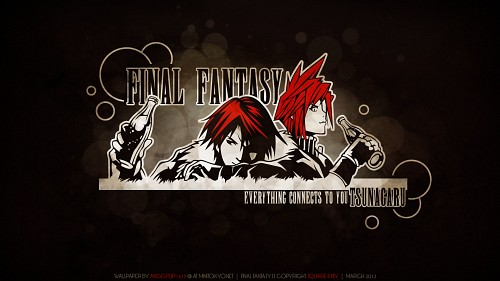 Square Enix, Final Fantasy VIII, Final Fantasy VII, Cloud Strife, Squall Leonhart Wallpaper
