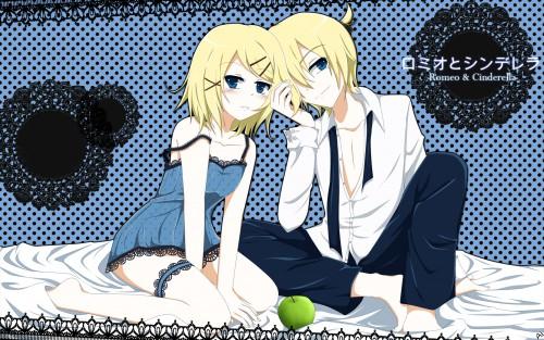 Vocaloid, Rin Kagamine, Len Kagamine, Member Art Wallpaper