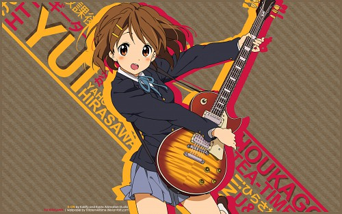 Kakifly, Kyoto Animation, K-On!, Yui Hirasawa Wallpaper