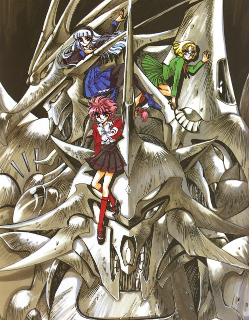 CLAMP, Magic Knight Rayearth, Magic Knight Rayearth Illustrations Collection, Umi Ryuuzaki, Rayearth (Character)