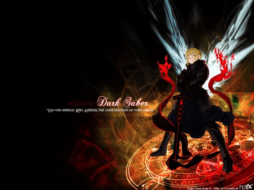 TYPE-MOON, Fate/Hollow ataraxia, Saber, Saber Alter, Magic Wallpaper