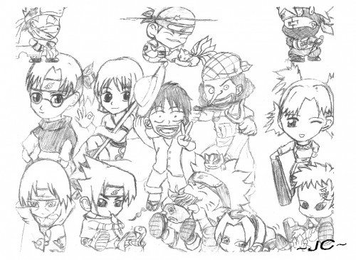 One Piece, Naruto, Gaara, Itachi Uchiha, Naruto Uzumaki