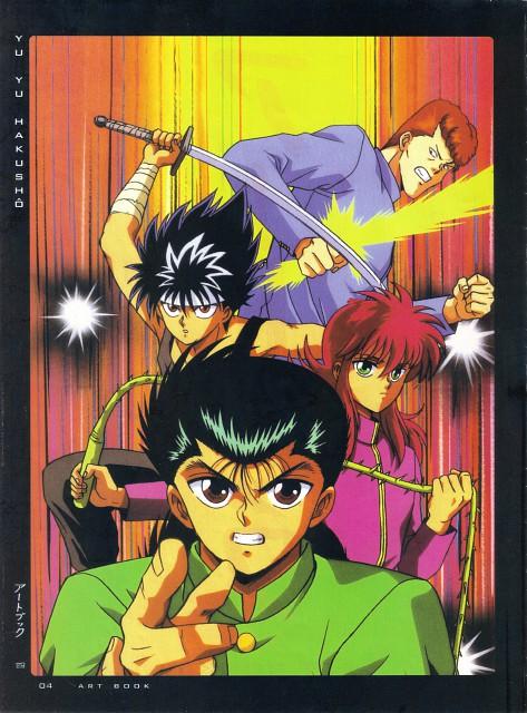Studio Pierrot, Yuu Yuu Hakusho, Fight - Artbook IV, Kurama, Hiei