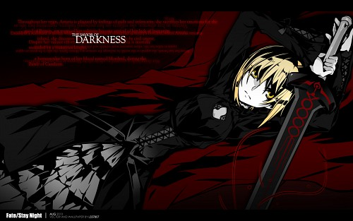 BUNBUN, TYPE-MOON, Fate/Hollow ataraxia, Saber Alter Wallpaper