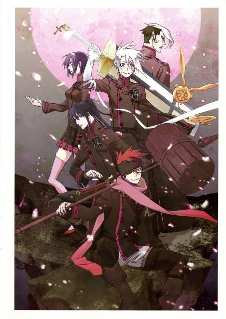 Katsura Hoshino, D Gray-Man, Noche - D.Gray-man Illustrations, Lavi, Allen Walker