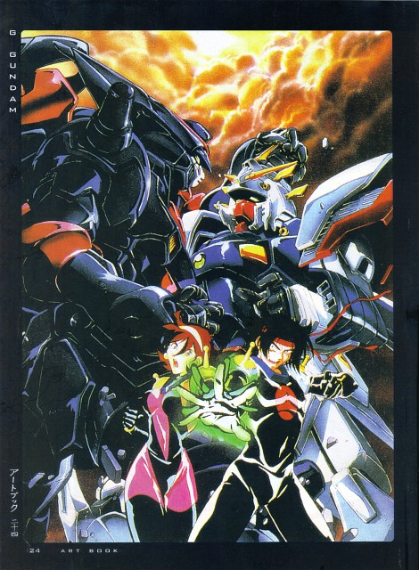Sunrise (Studio), Mobile Fighter G Gundam, Fight - Artbook IV, Rain Mikamura, Domon Kasshu