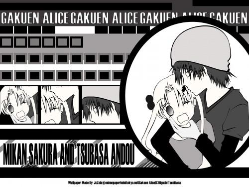 Tachibana Higuchi, Gakuen Alice, Tsubasa Andou, Mikan Sakura Wallpaper