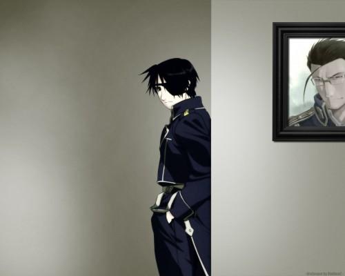 Hiromu Arakawa, BONES, Fullmetal Alchemist, Roy Mustang, Maes Hughes Wallpaper