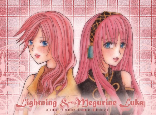 Square Enix, Final Fantasy XIII, Vocaloid, Luka Megurine, Lightning (FF XIII)