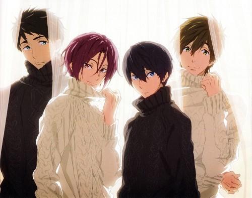 Kyoto Animation, Free!, Rin Matsuoka, Makoto Tachibana, Sousuke Yamazaki