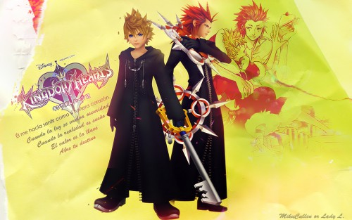Square Enix, Kingdom Hearts, Roxas, Axel Wallpaper