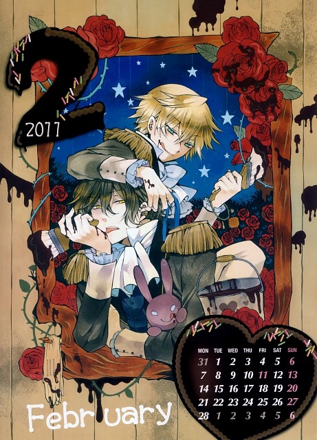 Jun Mochizuki, Xebec, Pandora Hearts, Pandora Hearts Calendar 2011, Gilbert Nightray