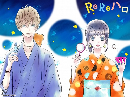 Touko Minami, ReRe Hello, Suou Minato, Ririko Hayakawa, Official Wallpaper