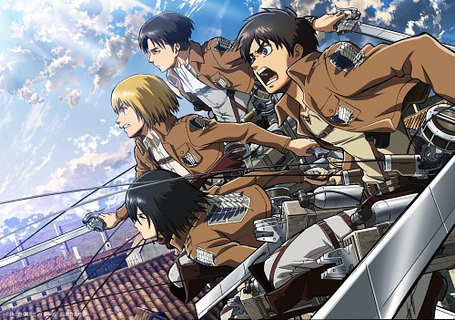 Production I.G, Shingeki no Kyojin, Levi Ackerman, Eren Yeager, Armin Arlert