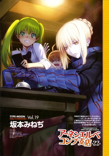 Mineji Sakamoto, TYPE-MOON, Mahou Tsukai no Hako, Fate/stay night, Hibiki Hibino