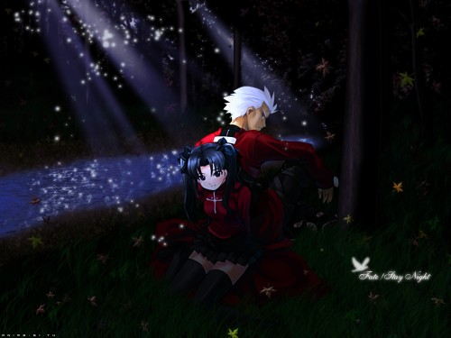 TYPE-MOON, Fate/stay night, Archer (Fate/stay night), Rin Tohsaka Wallpaper