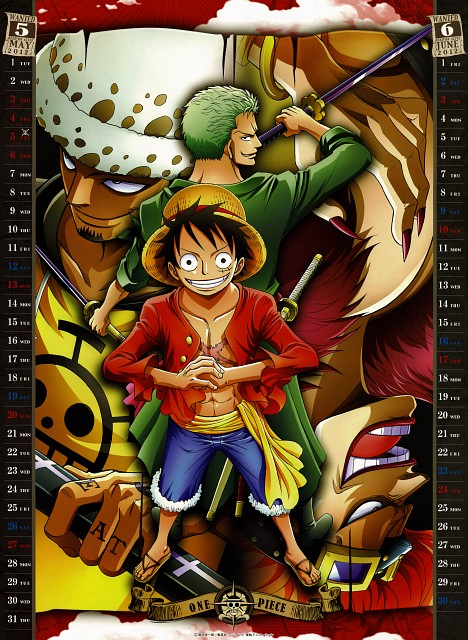 Eiichiro Oda, Toei Animation, One Piece, One Piece 2012 Calendar, Trafalgar Law