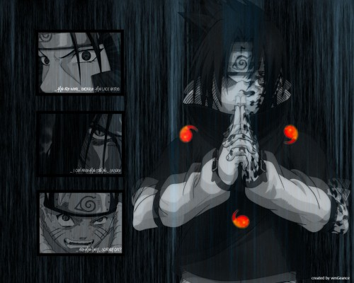 Masashi Kishimoto, Studio Pierrot, Naruto, Orochimaru, Sasuke Cursed Seal Wallpaper