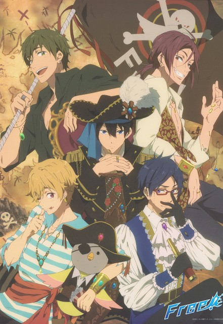 Kyoto Animation, Free!, Nagisa Hazuki, Rin Matsuoka, Makoto Tachibana