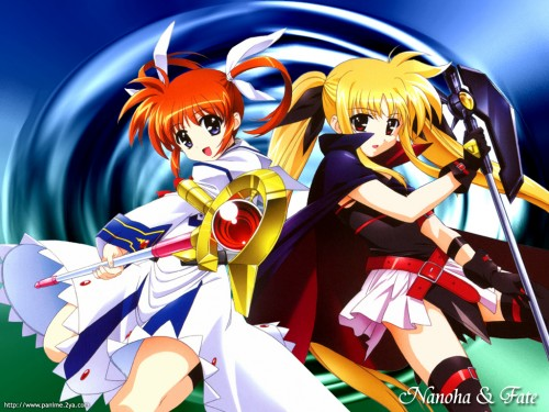 Mahou Shoujo Lyrical Nanoha, Nanoha Takamachi, Fate Testarossa Wallpaper