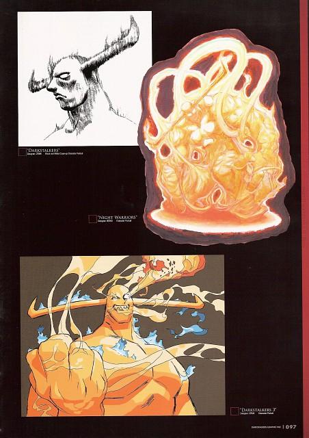 Capcom, Darkstalkers Graphic File, Dark Stalkers, Pyron