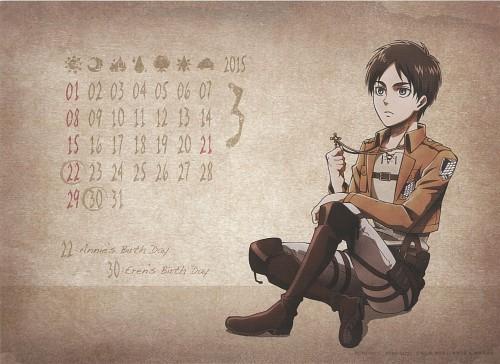 Hajime Isayama, Production I.G, Shingeki no Kyojin, Shingeki no Kyojin School Calendar 2014, Eren Yeager