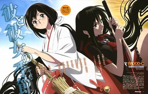 Shinji Itadaki, Production I.G, BLOOD-C, Saya Kisaragi, Magazine Page
