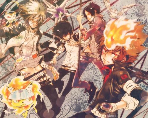 Akira Amano, Artland, Katekyo Hitman Reborn!, Hayato Gokudera, Natsu (KHR) Wallpaper