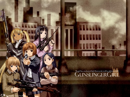 Madhouse, Gunslinger Girl, Angelica (Gunslinger Girl), Claes, Rico (Gunslinger Girl) Wallpaper