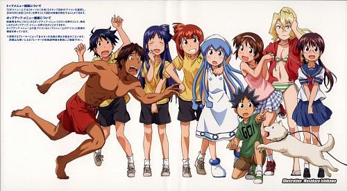 Shinryaku! Ika Musume, Chizuru Aizawa (Ika Musume), Kiyomi Sakura, Sanae Nagatsuki, Gorou Arashiyama