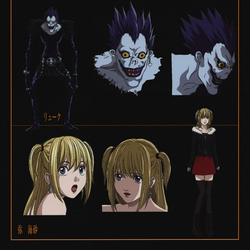 Death Note, Misa Amane, Ryuk, Character Sheet