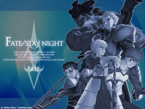 TYPE-MOON, Fate/stay night, Gilgamesh (Fate/Stay Night), Lancer (Fate/Stay Night), Saber Wallpaper