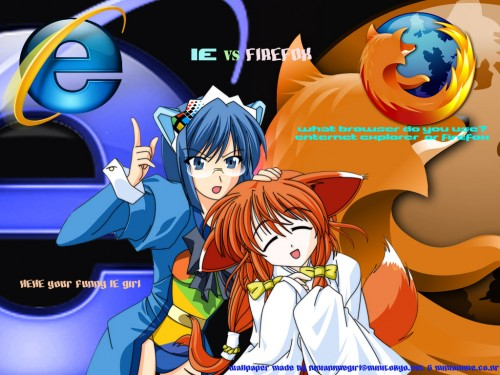 OS-tan, Windows 2000-tan, Firefox-tan Wallpaper