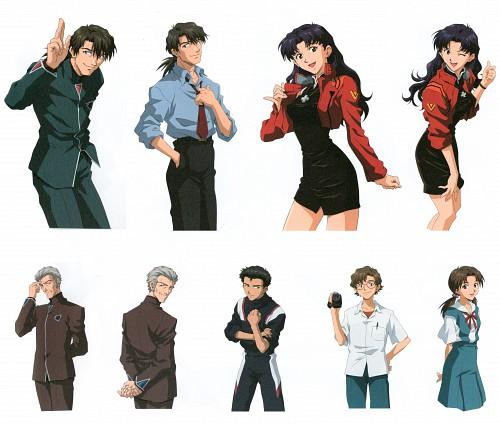 Yoshiyuki Sadamoto, Gainax, Khara, Neon Genesis Evangelion, Kouzou Fuyutsuki