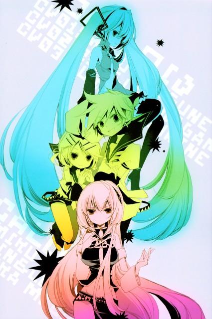 Shimeko, Landmark (Artbook), Vocaloid, Luka Megurine, Rin Kagamine