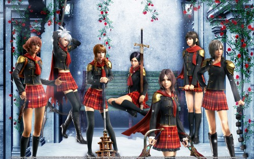 Square Enix, Final Fantasy Type-0, Queen (Final Fantasy Type-0), Cinque (Final Fantasy Type-0), Seven (Final Fantasy Type-0) Wallpaper