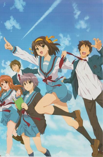 Kyoto Animation, The Melancholy of Suzumiya Haruhi, Itsuki Koizumi, Kyon, Yuki Nagato