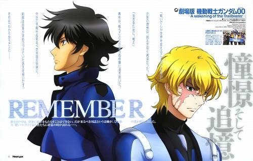 Sunrise (Studio), Mobile Suit Gundam 00, Graham Aker, Setsuna F. Seiei, Magazine Page
