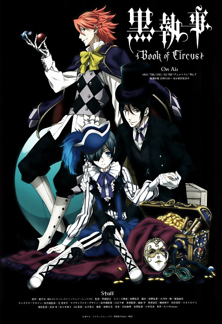 A-1 Pictures, Kuroshitsuji, Ciel Phantomhive, Sebastian Michaelis, Joker