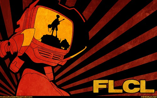 Yoshiyuki Sadamoto, Gainax, FLCL, Canti, Vector Art Wallpaper