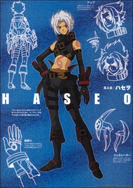 Yoshiyuki Sadamoto, .hack//G.U., Haseo, Character Sheet